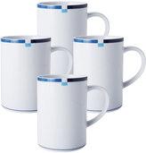 Mikasa Jet Set Blue Set of 4 Mugs