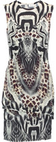 Camilla Layered Printed Stretch-Knit Mini Dress