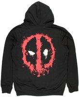 Bioworld Deadpool Splatter Logo Adult Sized Zip Up Hoodie (M)