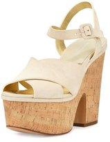 Michael Kors Hilary Suede Platform Sandal, Cream
