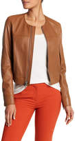 Theory Onorelle Collarless Leather Jacket
