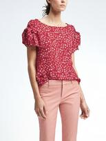 Banana Republic Easy Care Bow-Sleeve Top