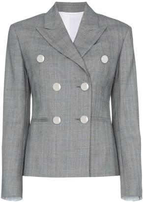 Calvin Klein Grey double breasted check blazer