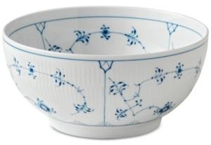 """Royal Copenhagen Blue Fluted Plain Large 9.5"""" Serving Bowl"""