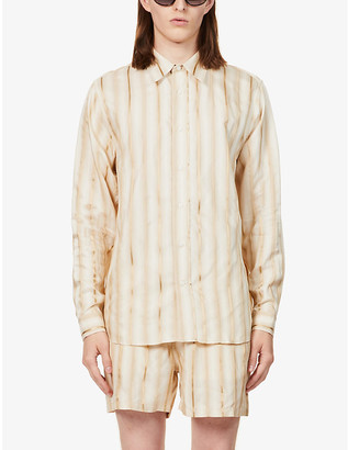Tiger of Sweden Striped woven shirt