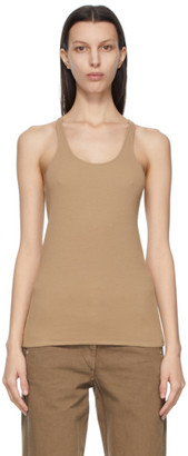 Lemaire Brown Crepe Jersey Tank Top