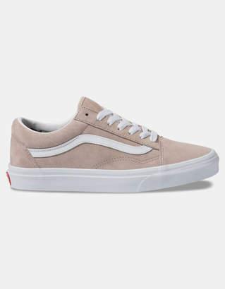 Vans Pig Suede Old Skool Shadow Gray & True White Womens Shoes