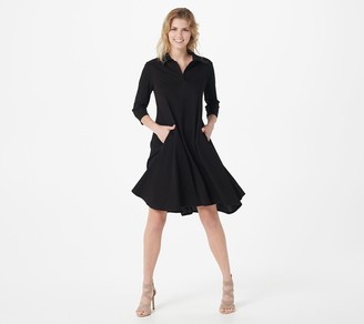 Women With Control Petite Prime Stretch Denim 2 Swing Dress