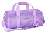 Bixbee Girl's 'Large Sparkalicious' Dance & Sports Duffel Bag - Purple