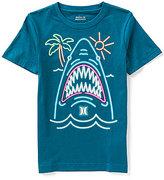 Hurley Big Boys 8-20 Neon Shark Glow-in-the-Dark Tee