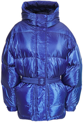 Ienki Ienki Michlin Quilted Polished Shell Hooded Down Jacket