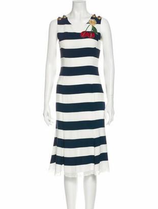 Dolce & Gabbana Striped Mini Dress White