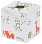 Kassatex Jungle Tissue Box Cover White