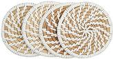Deborah Rhodes Set Of 4 Calypso Coasters-White, Nude