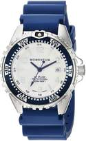 Momentum Women's Quartz Stainless Steel and Rubber Diving Watch, Color: (Model: 1M-DN11LU1U)