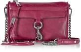 Rebecca Minkoff Mini M.A.C. Beet Distressed Leather Crossbody Bag