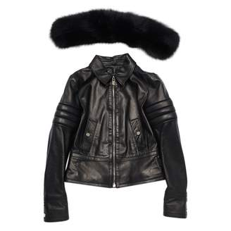 Bally Black Leather Jacket for Women