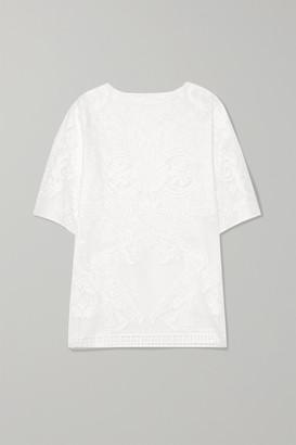 Dolce & Gabbana Cotton-blend Lace Top - White
