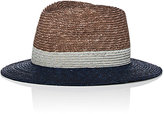 Paul Smith Men's Tricolor Straw Trilby Hat