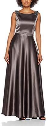 RIVIVI 6269 Women's A-Line Sleeveless Dress - Grey