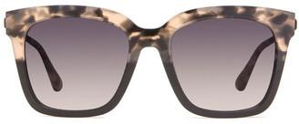 Diff Eyewear Bella Leopard Gray Fade & Smoke Gradient Polarized Sunglasses