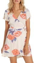 Billabong Women's Hold Me Tight Floral Print Wrap Dress