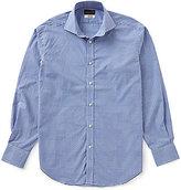 Thomas Dean Textured Check Long-Sleeve Woven Shirt