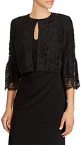 Lauren Ralph Lauren Frashil Bell Sleeve Lace Cardigan, Black