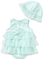 Little Me Baby Girls 3-12 Months Floral Embroidered Ruffle Tiered Dress