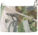 Kenzo printed chain-embellished shoulder bag - women - Brass - One Size