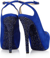 Jimmy Choo Tame crystal-embellished suede pumps