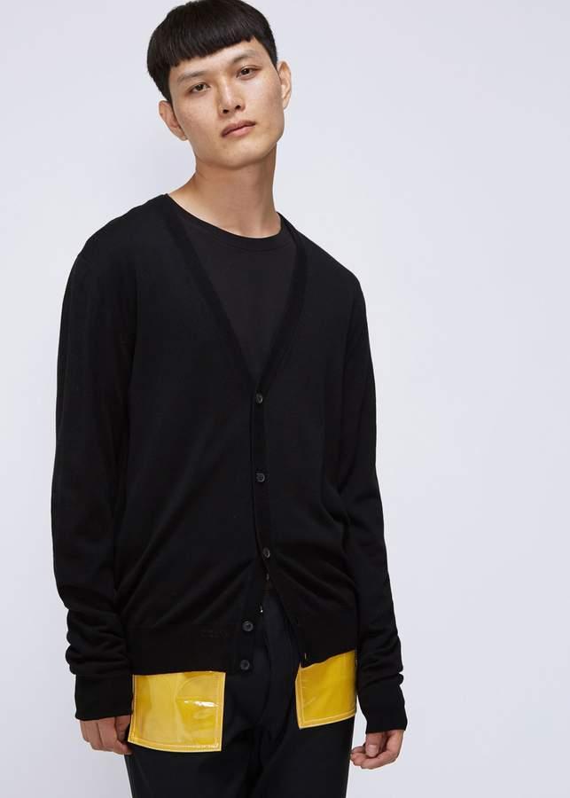 Maison Margiela Elbow Patch Cardigan Sweater