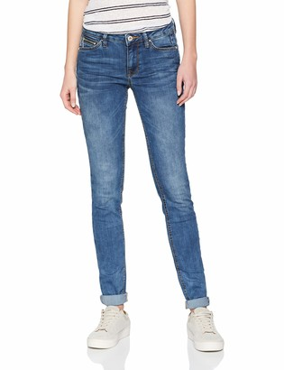 Tom Tailor Women's Jona 2 Button Authentic Blue Skinny Jeans