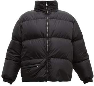 Prada Down And Feather-filled Technical Jacket - Womens - Black