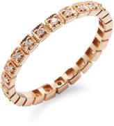 Ila Women's Carre Diamond Ring
