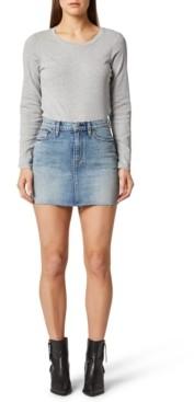 Hudson The Viper Denim Mini Skirt