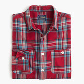 J.Crew Midweight flannel shirt in red plaid