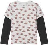 Chaser Football Toss Vintage Jersey Faux Twofer Tee w/ Tri-Blend (Little Kids/Big Kids) (Salt/Black) Boy's Clothing