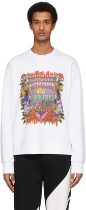 Neil Barrett White Artist Logo Sweatshirt