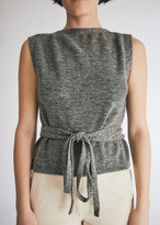 Lemaire Women's Wrapover Plastron in Grey Green, Size Small