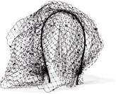 Jennifer Behr Beehive Swarovski Crystal-embellished Veiled Headband - Black