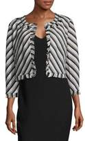 Karl Lagerfeld Frayed Striped Jacket