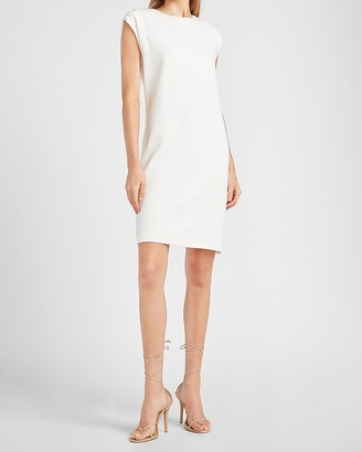 Express Padded Cap Sleeve Shift Dress