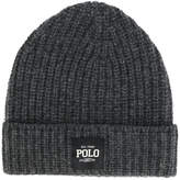 Polo Ralph Lauren logo patch ribbed beanie