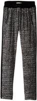 Ikks Printed Loose Pants with Elastic Drawstring Waist & Zipper Pocket Detail (Big Kids)