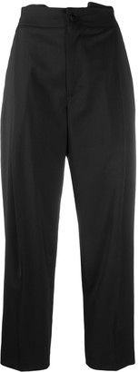 Barena High-Waisted Cropped Trousers