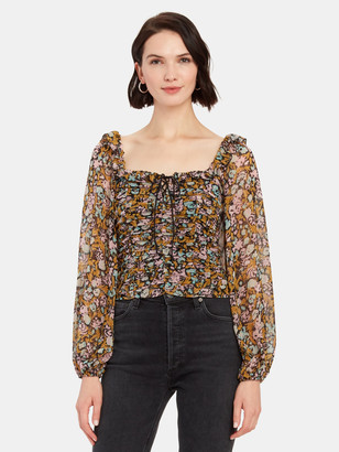 Free People Mabel Lace Up Blouse