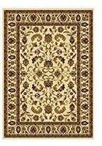 Dynamix Home Royalty 3208-100 43-Inch by 62-Inch Area Rug, Ivory