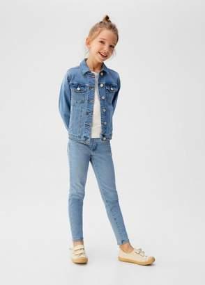 MANGO Pocketed denim jacket medium blue - 6 - Kids
