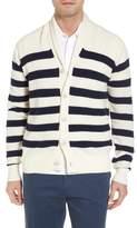 Peter Millar Crown Cool Sailor Stripe Merino Wool & Linen Cardigan